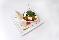 Placa de la comida de cena fina Fotos de archivo libres de regalías