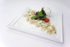 Placa de la comida de cena fina Imagen de archivo