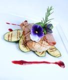 Placa de la comida de cena fina Foto de archivo