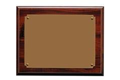 Placa de la concesión Imagen de archivo libre de regalías