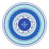 Placa de la decoración del ornamento con el cordón ilustración del vector