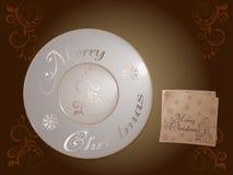 Placa de la Feliz Navidad del día de fiesta imagenes de archivo