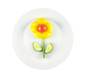 Placa de la flor imagenes de archivo