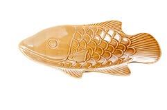 Placa de la forma de los pescados Imagen de archivo libre de regalías