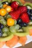 Placa de la fruta imágenes de archivo libres de regalías