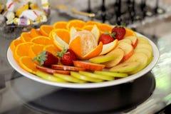 Placa de la fruta Fotos de archivo