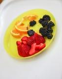 Placa de la fruta Imagen de archivo libre de regalías