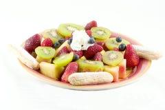 Placa de la fruta de la comida fría Foto de archivo
