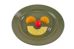 Placa de la fruta de los niños Fotos de archivo