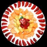 Placa de la fruta rebanada Fotografía de archivo