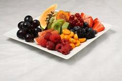 Placa de la fruta total Foto de archivo libre de regalías