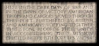 Placa de la guerra de Liverpool Imagen de archivo libre de regalías