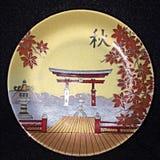 Placa de la porcelana de Shibata Fotos de archivo libres de regalías