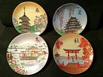 Placa de la porcelana de Shibata Fotografía de archivo libre de regalías