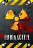 Placa de la radiactividad Stock de ilustración