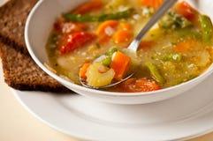 Placa de la sopa vegetal Fotografía de archivo