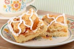 Placa de la tarta de manzanas Imagen de archivo libre de regalías