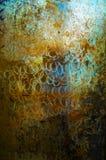 Placa de la textura del fondo de Art Metal Fotografía de archivo