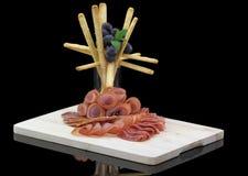 Placa de la tienda de platos preparados de la carne Imagen de archivo libre de regalías