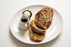 Placa de la tostada francesa Foto de archivo libre de regalías