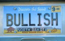 Placa de la vanidad - Dakota del Norte Fotos de archivo