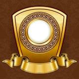Placa de la vendimia del oro ilustración del vector