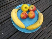 Placa de las frutas - desayuno sano 3 Fotografía de archivo libre de regalías