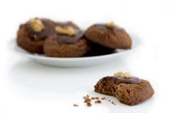 Placa de las galletas del chocolate Fotos de archivo libres de regalías
