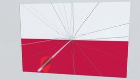 Placa de las roturas de la flecha del tiro al arco que ofrece la bandera de POLONIA animación 3D libre illustration