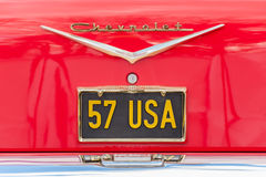 Placa de licença de Chevrolet Fotos de Stock