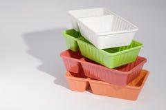 Placa de los alimentos de preparación rápida Fotografía de archivo