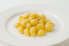 Placa de los shelles de las pastas Fotografía de archivo libre de regalías