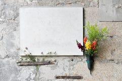 Placa de mármore Foto de Stock