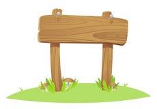 Placa de madeira ilustração royalty free