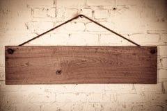 Placa de madeira Foto de Stock Royalty Free