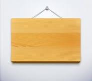Placa de madeira Fotos de Stock Royalty Free