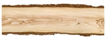 Placa de madeira agradável no fundo branco Imagens de Stock Royalty Free