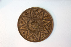 Placa de madeira cinzelada Foto de Stock Royalty Free