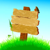 Placa de madeira com pássaro Fotografia de Stock