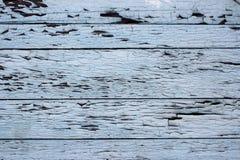 Placa de madeira com pintura azul velha imagens de stock royalty free
