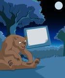 Placa de madeira com urso Foto de Stock Royalty Free