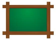 Placa de madeira da escola Imagem de Stock