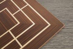 Placa de madeira detalhada de um jogo da estratégia foto de stock royalty free