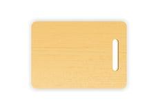Placa de madeira do desbastamento ou de corte no fundo branco Ilustração do vetor Imagens de Stock Royalty Free