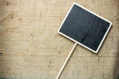 Placa de madeira do estilo quadrado oco do quadro-negro Fotografia de Stock