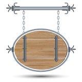 Placa de madeira do estilo retro ilustração do vetor