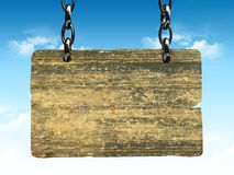 Placa de madeira do sinal Ilustração Stock