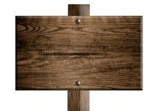 Placa de madeira do sinal Fotografia de Stock Royalty Free