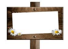 Placa de madeira do sinal Imagens de Stock