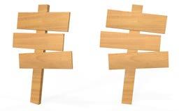 Placa de madeira do sinal do estilo dos desenhos animados Imagens de Stock Royalty Free